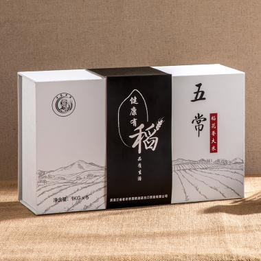 老农帝国 五常稻花香大米礼盒装10斤【精品黑白色】