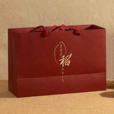 老农帝国 五常稻花香大米礼盒装10斤【精品丹红色】
