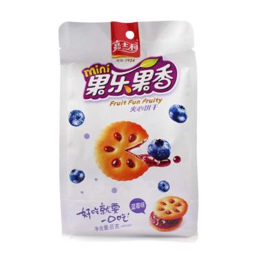 嘉士利果乐果香蓝莓味夹心饼干85g*2包