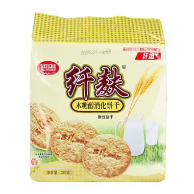 思朗纤麸木糖醇消化饼干380g