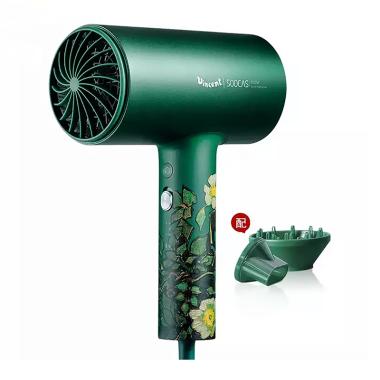 素士负离子电吹风机女家用发型师专用大功率不伤发H5**绿升级版