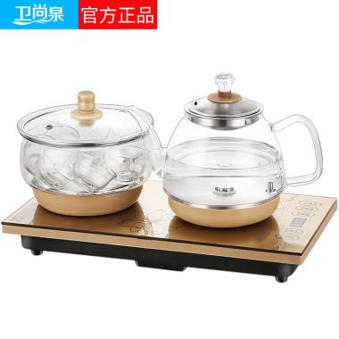 卫尚泉全自动上水电热水壶玻璃电茶炉茶具套装