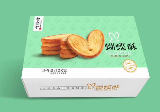 智嘉仁蝴蝶酥芝士味128g*2盒